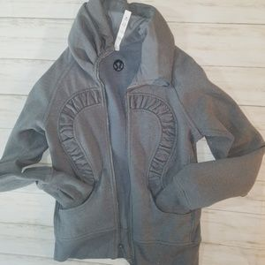 Lululemon Athletica  Gray Glitter Jacket, size 8